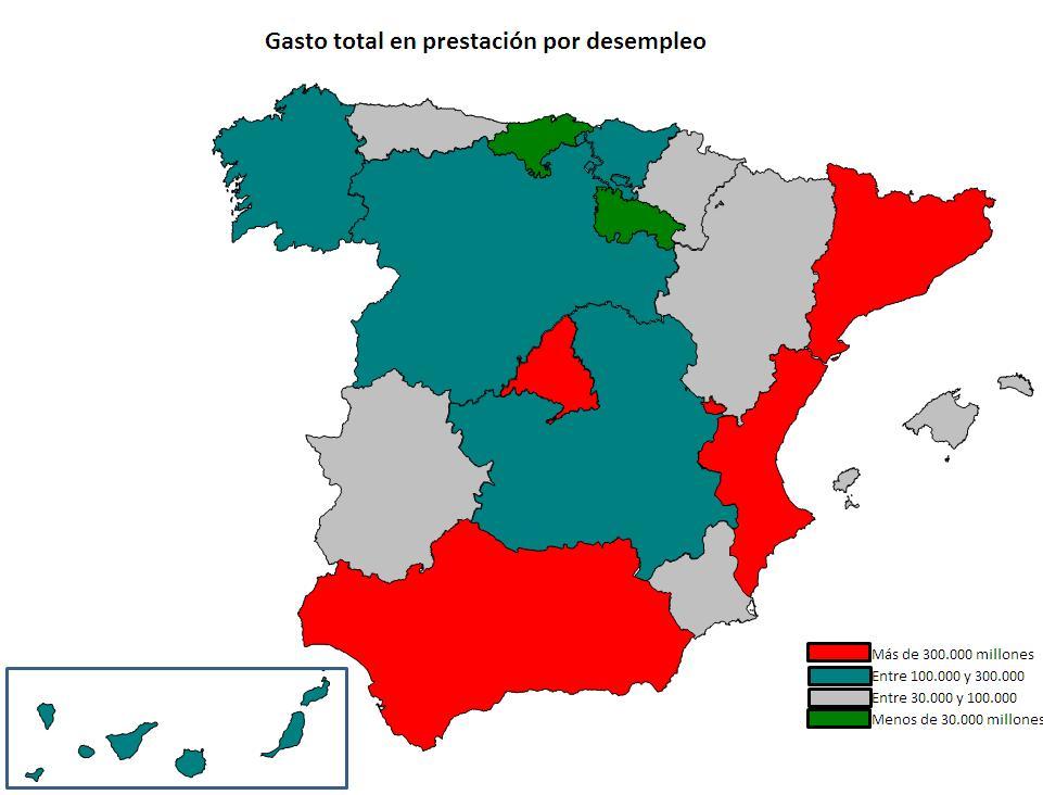 Mapa final de España con Excel