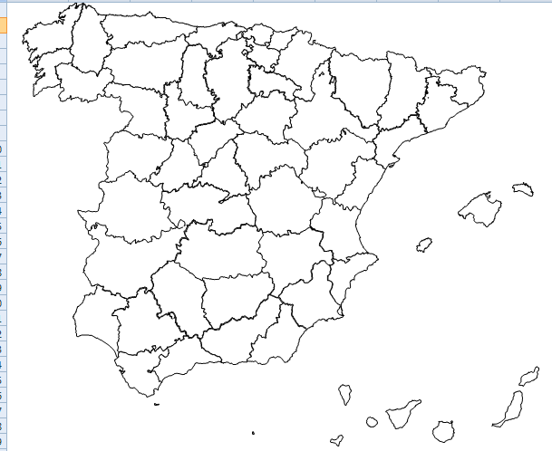 Mapa España Provincias Blanco.Trucos Excel Mapa De Espana Por Provincias Mejores