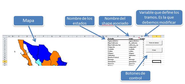 Trucos Excel. Mapa de México por Estados | Análisis y Decisión