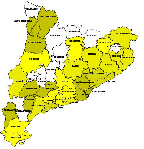 Mapa De Catalunya En Excel Por Comarcas Análisis Y Decisión