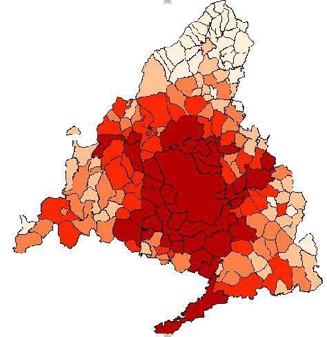 Mapas de la provincia de Madrid con BDT  Anlisis y Decisin