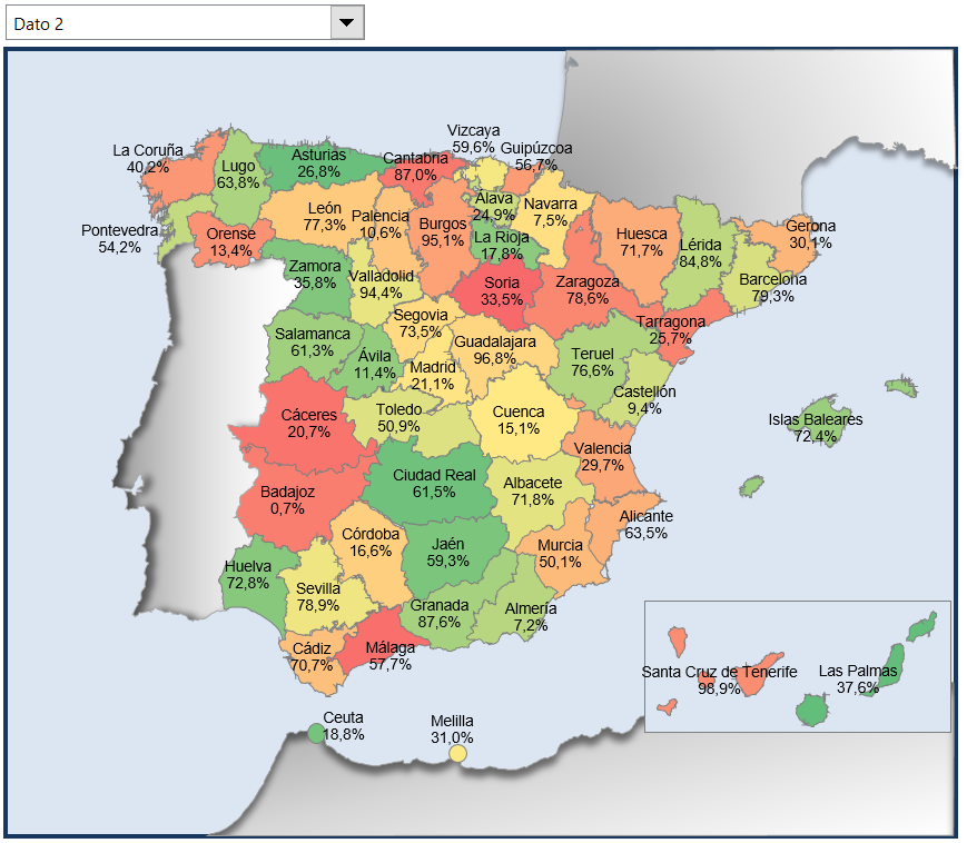 Mapa De España Actualizado.Nuevo Y Muy Mejorado Mapa De Espana Por Provincias Con Excel